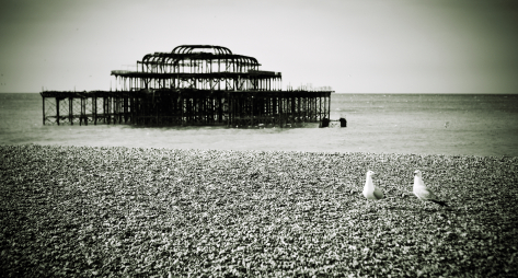 Old West Pier in Brighton